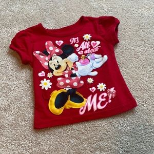Minnie Mouse Red Tee 2T